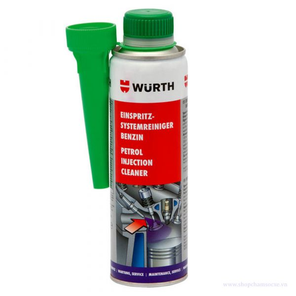 Phụ gia xăng Wurth Petrol injection system cleaner 300ml